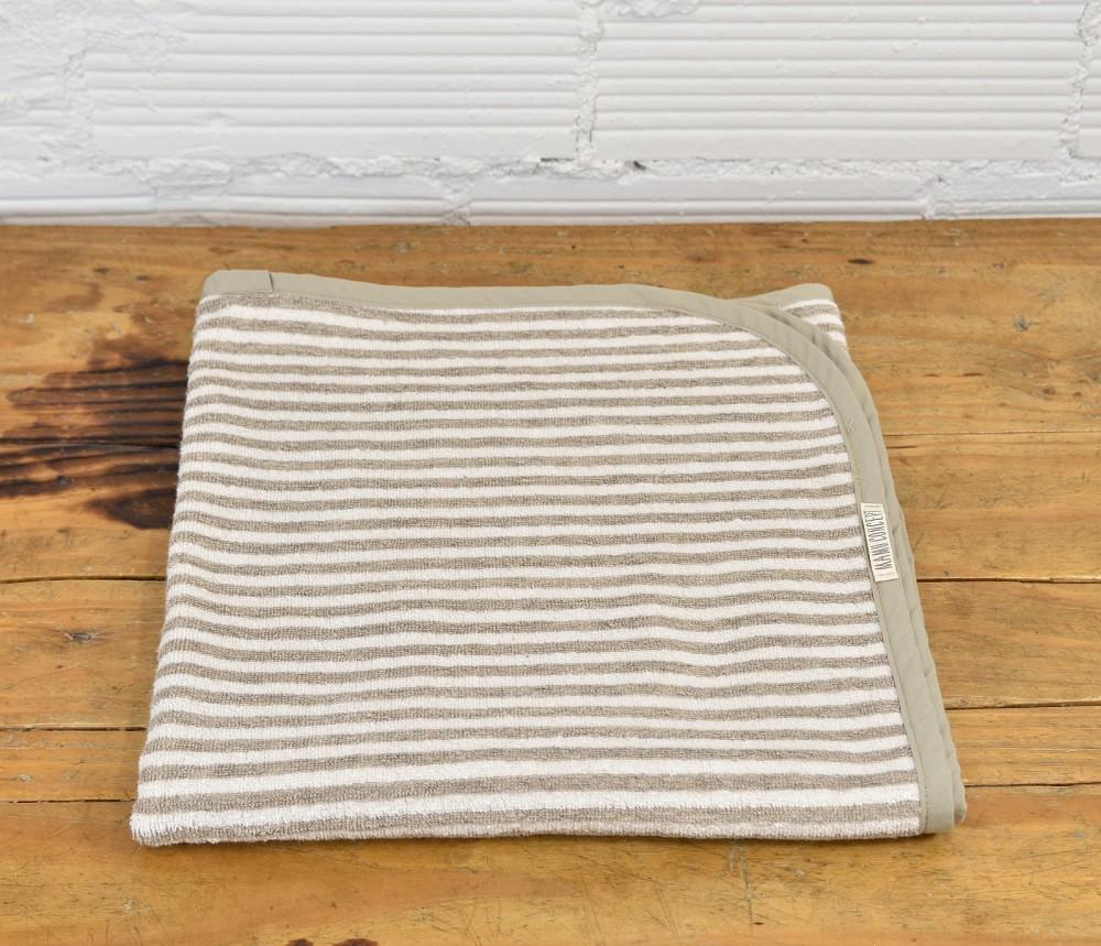 Lniany ręcznik w paski - duży