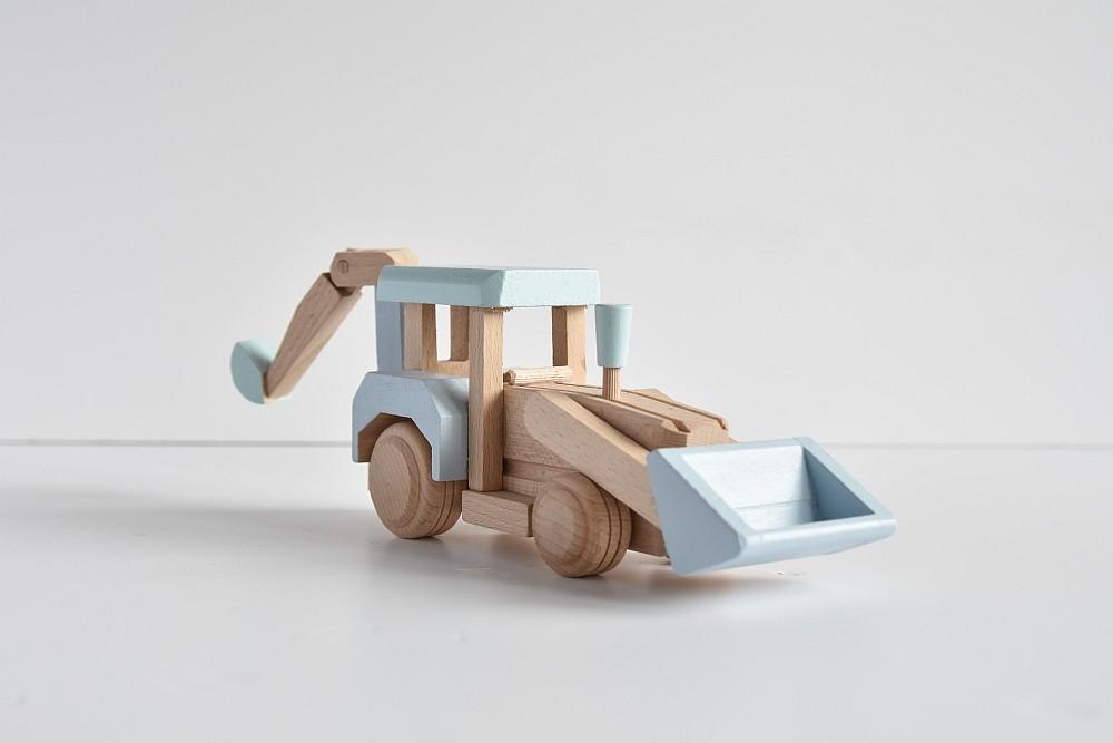 Drewniana koparka