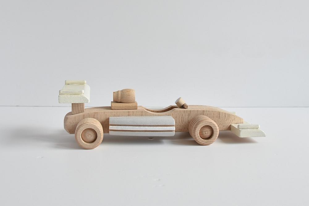 Drewniany samochód - wyścigówka - F1