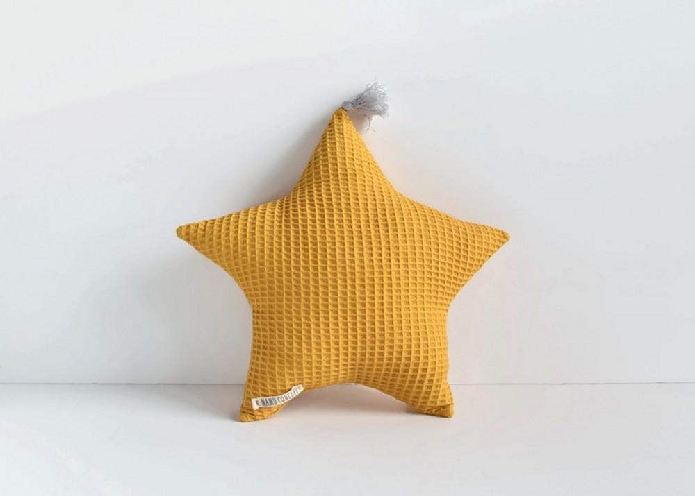 Poduszka gwiazdka - musztarda