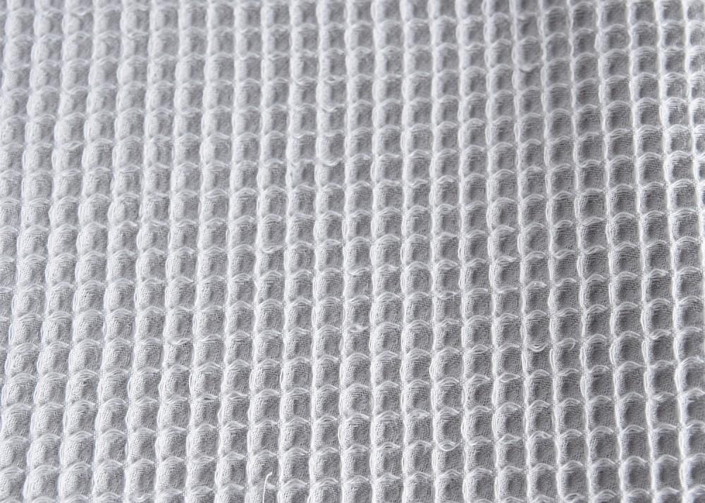 Kocyk wafelkowy z chwostami - jasny szary
