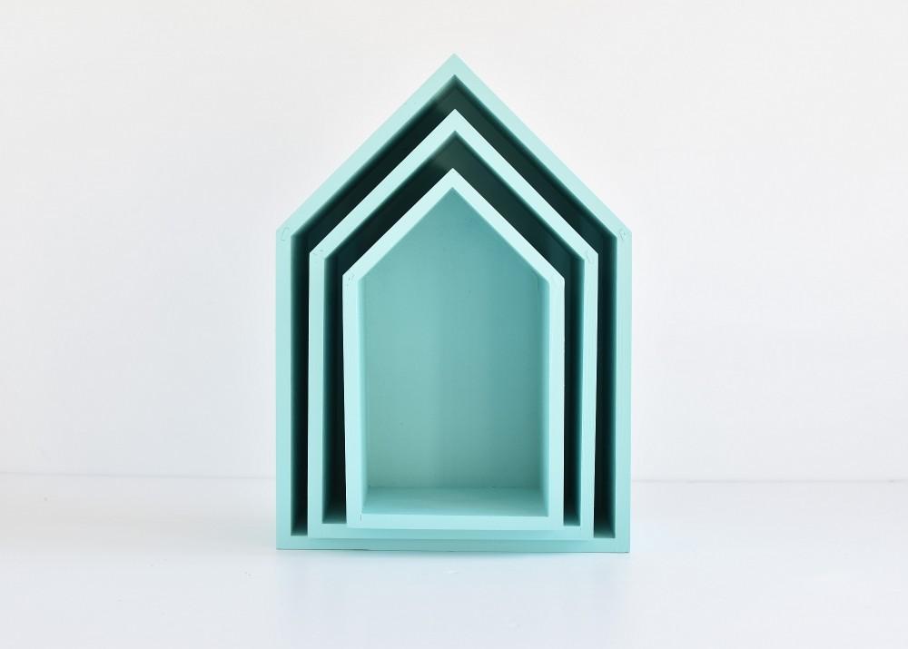 Półki domki - trio - mocna mięta