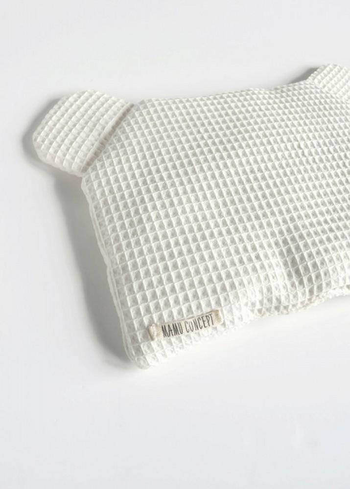 Płaska poduszka miś - kremowy