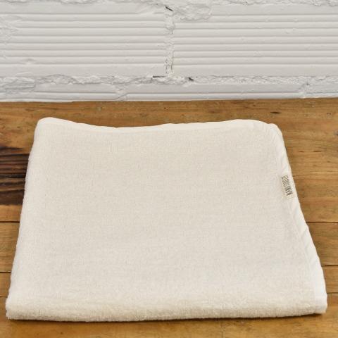Lniany ręcznik - kremowy duży