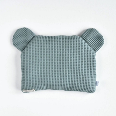 Płaska poduszka miś - szałwia