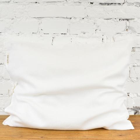 Lniana poszewka na poduszkę  - biały