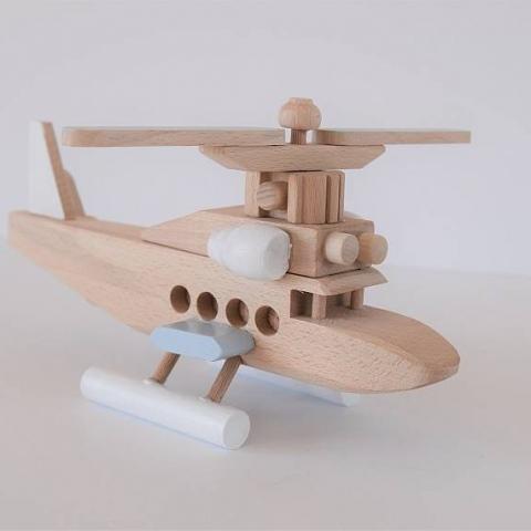 Drewniany helikopter - mały